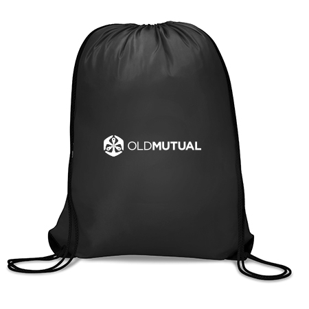 Picture of Black Old Mutual Drawstring Bag