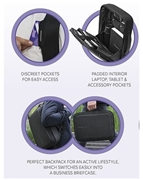 Picture of Bobby Bizz Anti Theft 2-in-1 Backpack and Briefcase