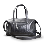 Picture of Genuine Leather Square Zip Top Winged Travel Bag