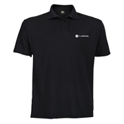 Picture of Basic 165g Black Pique Golfer - Mens
