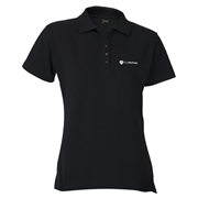Picture of Basic 165g Black Pique Golfer -Ladies
