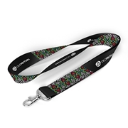 Picture of Black Lanyard Dye Sub 20mm Polyester 2 Side