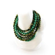 Picture of Lerato Shweshwe Necklace-Hand crafted Shweshwe beaded necklace