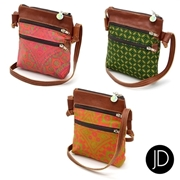 Picture of JD Shweshwe And Leather Sling Bags