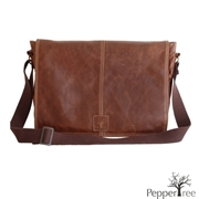 Picture of Genuine Leather Laptop Bag With Design Team Lining