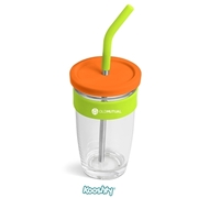 Picture of 480ml Kooshty Slurp Glass Kup and Steel Straw