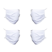 Picture of Triple Layer Fabric Face Mask Pack Of 4 White