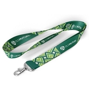 Picture of Green Lanyard Dye Sub 20mm Polyester 2 Side