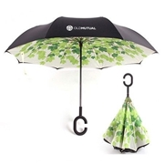 Picture of Green Leaves Reversible Umbrella